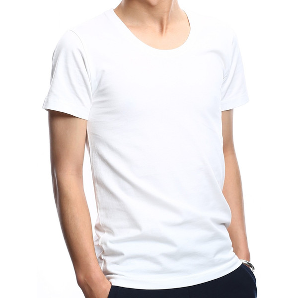 Tシャツ メンズ カットソー アメカジ Vネック Uネック クルーネック 無地 半袖 コットン|improves|23