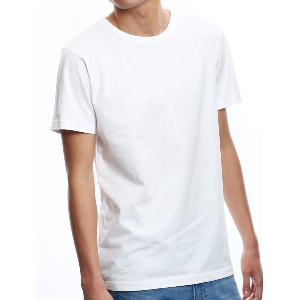 Tシャツ メンズ カットソー アメカジ Vネック Uネック クルーネック 無地 半袖 コットン|improves|27