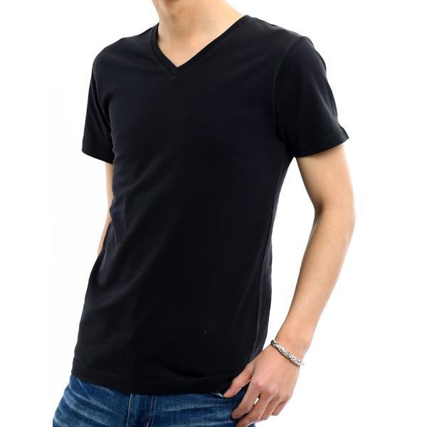 Tシャツ メンズ カットソー アメカジ Vネック Uネック クルーネック 無地 半袖 コットン|improves|20