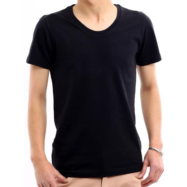 Tシャツ メンズ カットソー アメカジ Vネック Uネック クルーネック 無地 半袖 コットン|improves|24