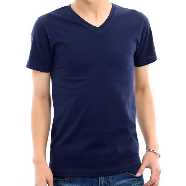 Tシャツ メンズ カットソー アメカジ Vネック Uネック クルーネック 無地 半袖 コットン|improves|21