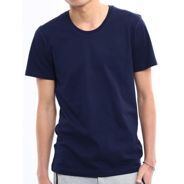 Tシャツ メンズ カットソー アメカジ Vネック Uネック クルーネック 無地 半袖 コットン|improves|25