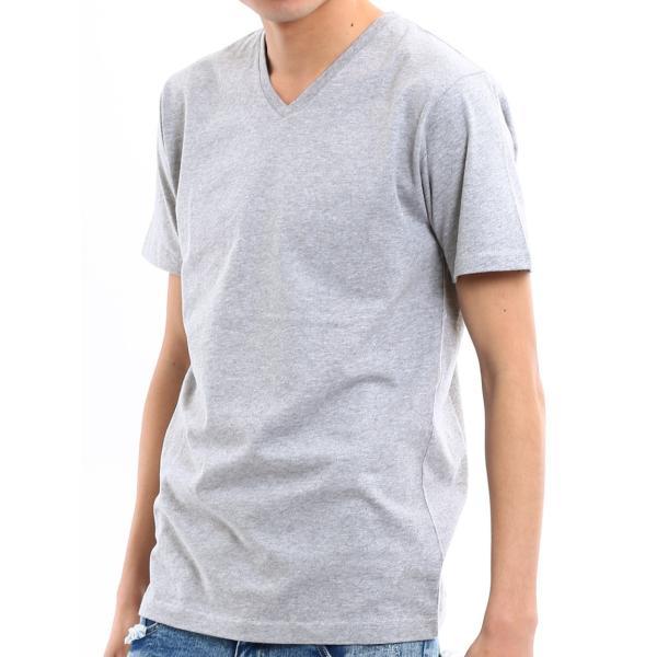 Tシャツ メンズ カットソー アメカジ Vネック Uネック クルーネック 無地 半袖 コットン|improves|22