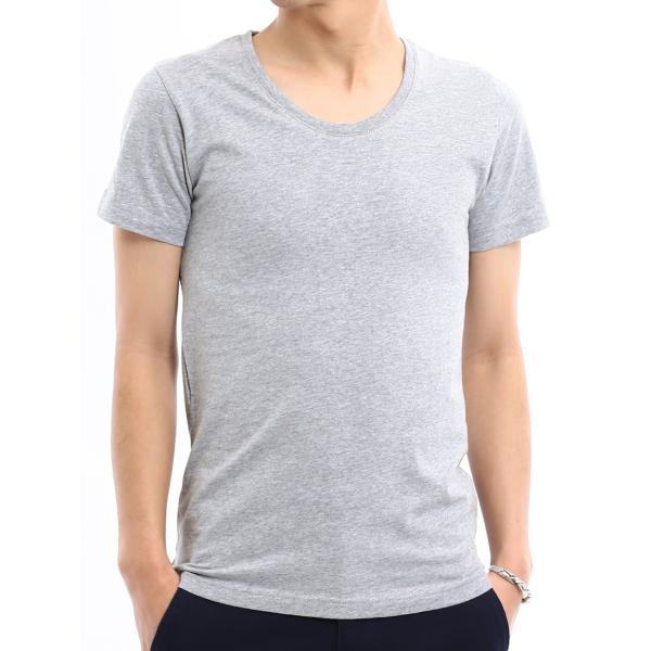Tシャツ メンズ カットソー アメカジ Vネック Uネック クルーネック 無地 半袖 コットン|improves|26