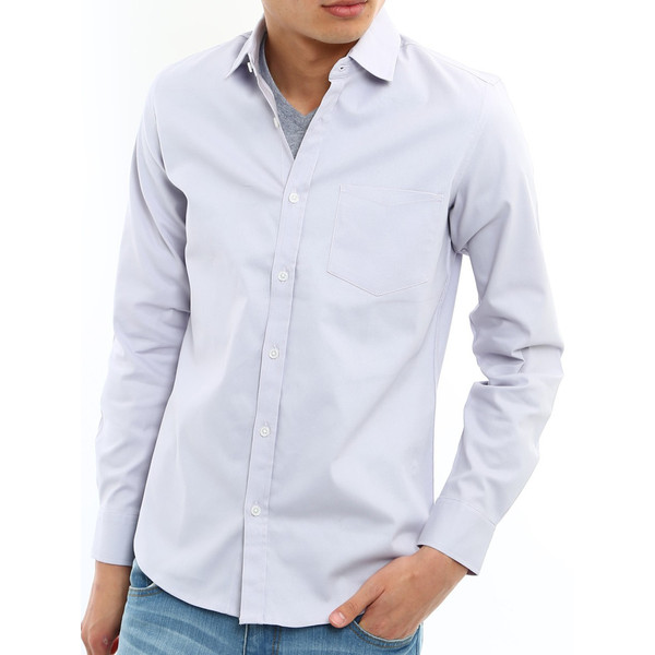 シャツ メンズ オックスフォード カジュアルシャツ 白シャツ 無地 7分袖 七分袖 長袖 トップス おしゃれ 夏 夏服 ファッション|improves|21