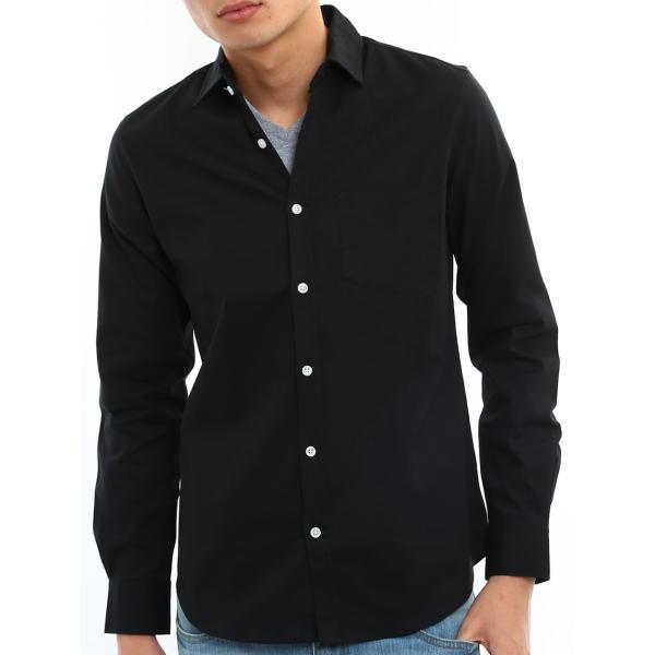 シャツ メンズ オックスフォード カジュアルシャツ 白シャツ 無地 7分袖 七分袖 長袖 トップス おしゃれ 夏 夏服 ファッション|improves|24