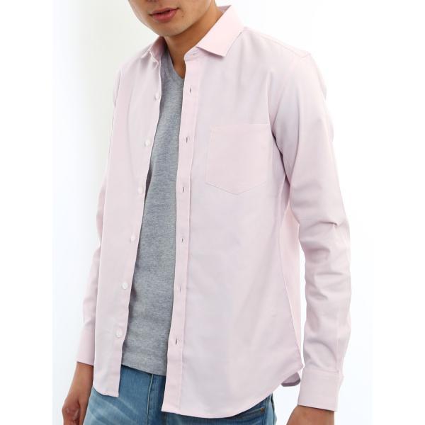 シャツ メンズ オックスフォード カジュアルシャツ 白シャツ 無地 7分袖 七分袖 長袖 トップス おしゃれ 夏 夏服 ファッション|improves|29