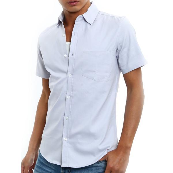 シャツ メンズ 半袖 カジュアル 無地 オックスフォード オープンカラーシャツ 開襟シャツ おしゃれ ファッション improves 19