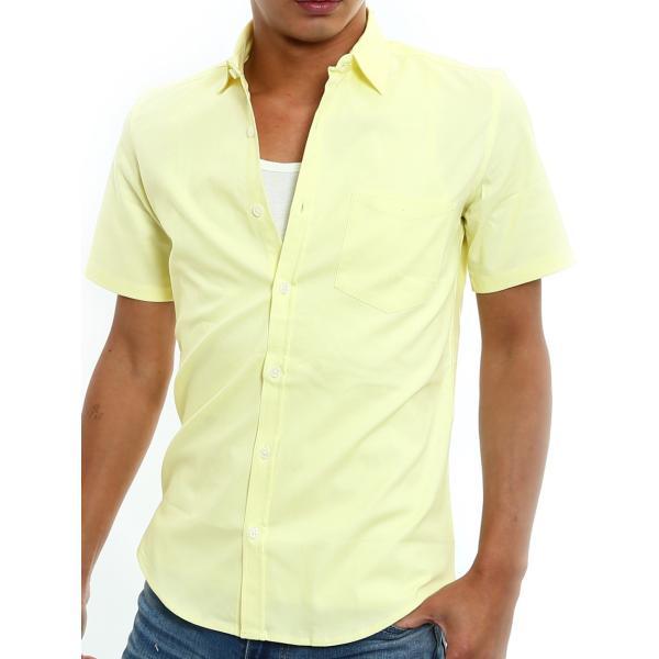 シャツ メンズ 半袖 カジュアル 無地 オックスフォード オープンカラーシャツ 開襟シャツ おしゃれ ファッション improves 20