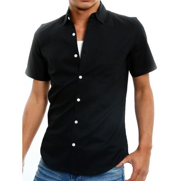 シャツ メンズ 半袖 カジュアル 無地 オックスフォード オープンカラーシャツ 開襟シャツ おしゃれ ファッション improves 23