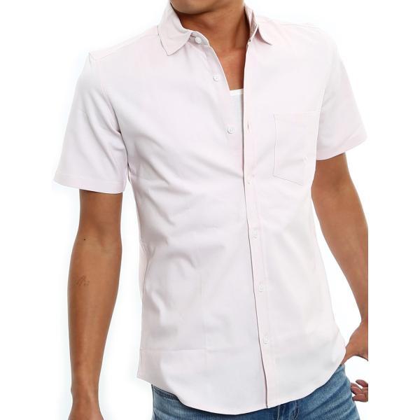 シャツ メンズ 半袖 カジュアル 無地 オックスフォード オープンカラーシャツ 開襟シャツ おしゃれ ファッション improves 27
