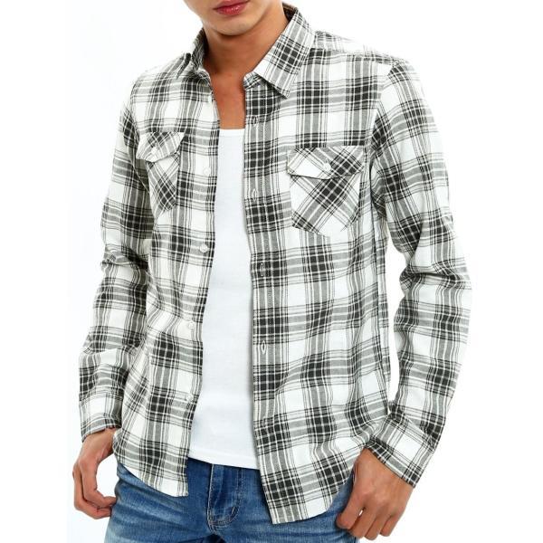 チェックシャツ メンズ コットン カジュアルシャツ シャツ 長袖 アメカジ トップス おしゃれ おしゃれ 夏 夏服 ファッション improves 21