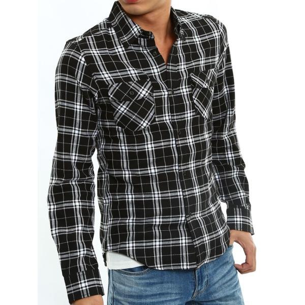 チェックシャツ メンズ コットン カジュアルシャツ シャツ 長袖 アメカジ トップス おしゃれ おしゃれ 夏 夏服 ファッション improves 22