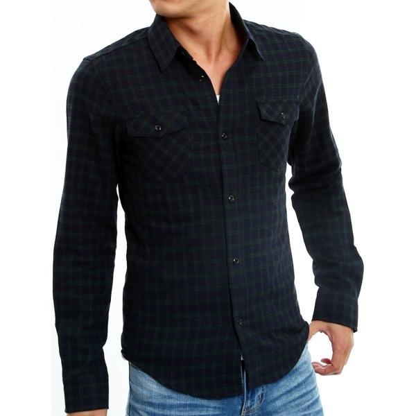 チェックシャツ メンズ コットン カジュアルシャツ シャツ 長袖 アメカジ トップス おしゃれ おしゃれ 夏 夏服 ファッション improves 28
