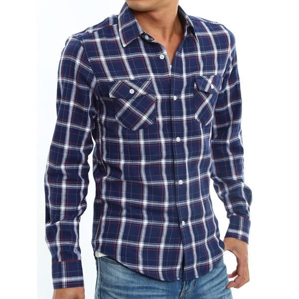 チェックシャツ メンズ コットン カジュアルシャツ シャツ 長袖 アメカジ トップス おしゃれ おしゃれ 夏 夏服 ファッション improves 30