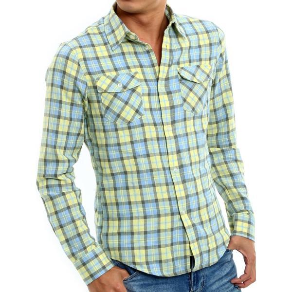 チェックシャツ メンズ コットン カジュアルシャツ シャツ 長袖 アメカジ トップス おしゃれ おしゃれ 夏 夏服 ファッション improves 31