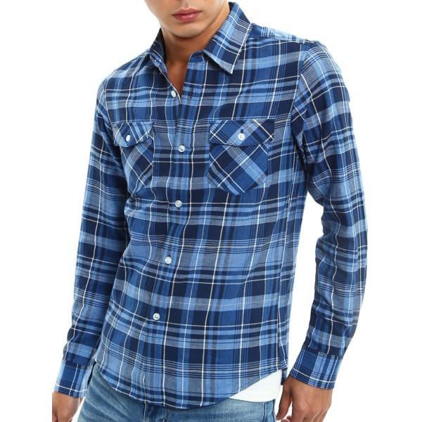 チェックシャツ メンズ コットン カジュアルシャツ シャツ 長袖 アメカジ トップス おしゃれ おしゃれ 夏 夏服 ファッション improves 32