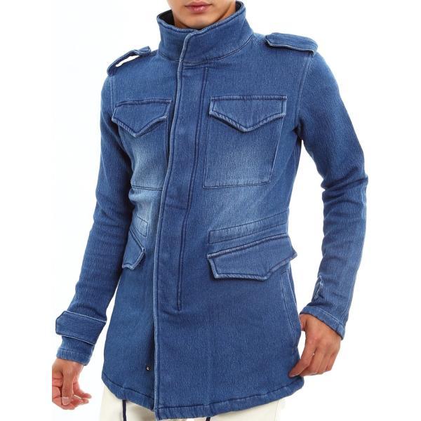 デニムジャケット M-65 M65 Gジャン メンズ アウター フライトジャケット カットデニム ミリタリー 迷彩 カモフラ おしゃれ 夏 夏服 ファッション|improves|12