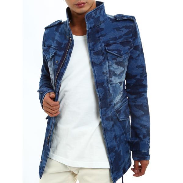 デニムジャケット M-65 M65 Gジャン メンズ アウター フライトジャケット カットデニム ミリタリー 迷彩 カモフラ おしゃれ 夏 夏服 ファッション|improves|13