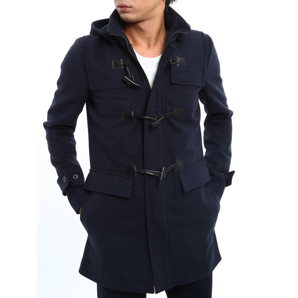 ダッフルコート メンズ アウター コート メルトン ウール 新作 おしゃれ 夏 夏服 ファッション|improves|09