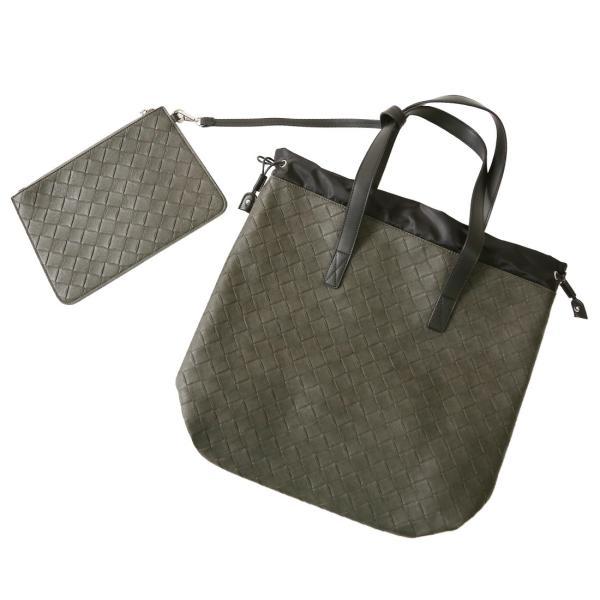 トートバッグ メンズ クラッチバッグ カバン 鞄 バッグインバッグ フェイク レザー 大きめ おしゃれ プレゼント おしゃれ ファッション|improves|15