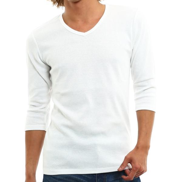 Tシャツ メンズ カットソー 七分袖 7分袖 無地 トップス おしゃれ 夏 夏服 ファッション|improves|21