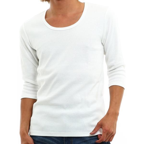 Tシャツ メンズ カットソー 七分袖 7分袖 無地 トップス おしゃれ 夏 夏服 ファッション 送料無料|improves|25