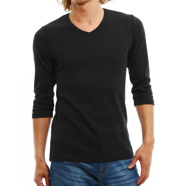 Tシャツ メンズ カットソー 七分袖 7分袖 無地 トップス おしゃれ 夏 夏服 ファッション|improves|22