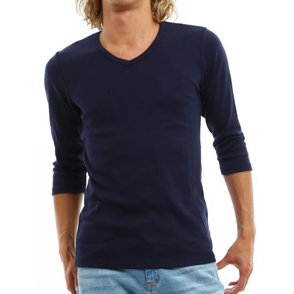 Tシャツ メンズ カットソー 七分袖 7分袖 無地 トップス おしゃれ 夏 夏服 ファッション|improves|23
