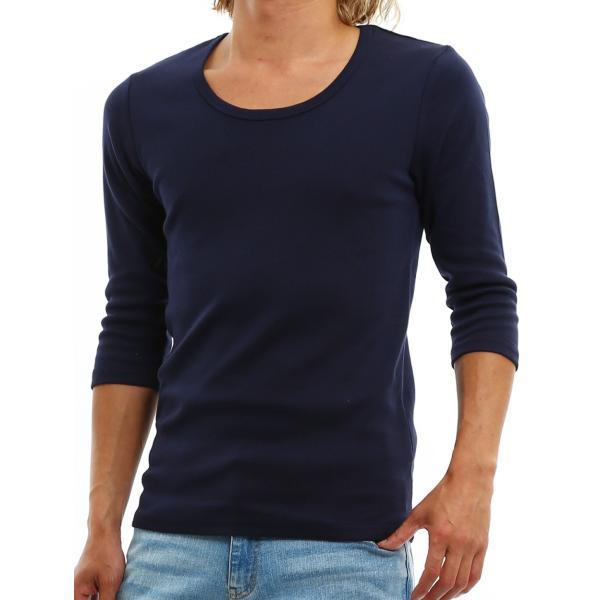 Tシャツ メンズ カットソー 七分袖 7分袖 無地 トップス おしゃれ 夏 夏服 ファッション|improves|27