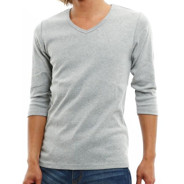 Tシャツ メンズ カットソー 七分袖 7分袖 無地 トップス おしゃれ 夏 夏服 ファッション 送料無料|improves|24