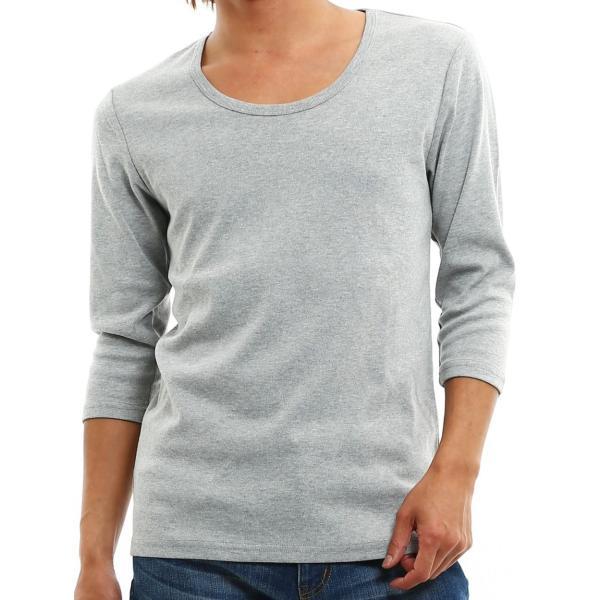 Tシャツ メンズ カットソー 七分袖 7分袖 無地 トップス おしゃれ 夏 夏服 ファッション|improves|28