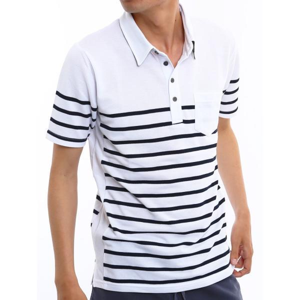 ポロシャツ メンズ ドライ 速乾 無地 半袖 ゴルフ 鹿の子 トップス 脇汗対策 メール便対応 おしゃれ 夏 夏服 ファッション|improves|21