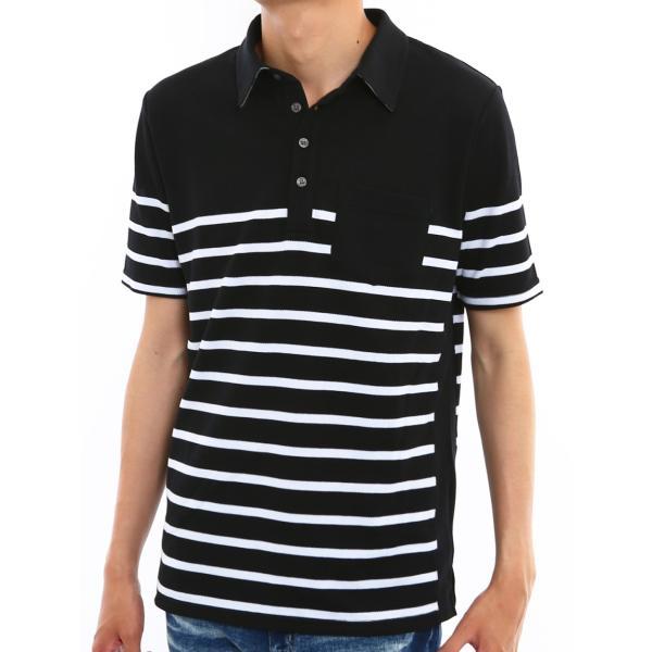 ポロシャツ メンズ ドライ 速乾 無地 半袖 ゴルフ 鹿の子 トップス 脇汗対策 メール便対応 おしゃれ 夏 夏服 ファッション|improves|25