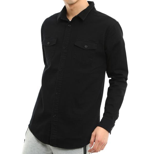 ミリタリーシャツ メンズ シャツ 長袖 無地 ワークシャツ おしゃれ トップス おしゃれ ファッション|improves|19