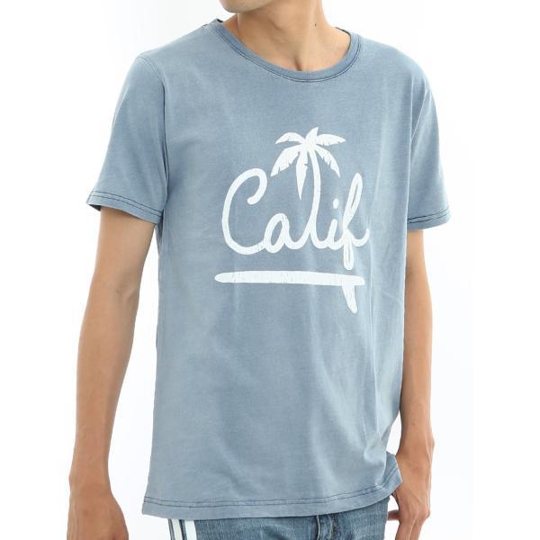 Tシャツ 半袖 インディゴ プリント  カットソー 半袖 アメカジ サーフ系 クルーネック おしゃれ ファッション|improves|11