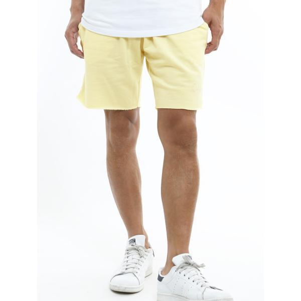 ショートパンツ メンズ スウェット スエット ボトムス カットオフプリント セットアップ カジュアル おしゃれ ファッション|improves|18