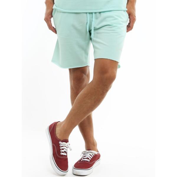 ショートパンツ メンズ スウェット スエット ボトムス カットオフプリント セットアップ カジュアル おしゃれ ファッション|improves|20