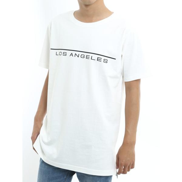 Tシャツ メンズ BIG ビッグシルエット プリント 半袖 トップス クルーネック スリット おしゃれ ファッション|improves|10