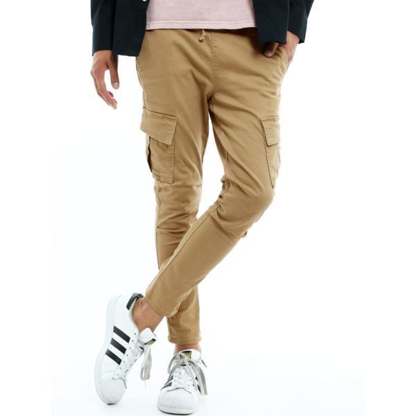 カーゴパンツ メンズ ボトムス ストレート スリム ストレッチ ストーンバイオウォッシュ イージーパンツ クライミングパンツ おしゃれ ファッション|improves|16