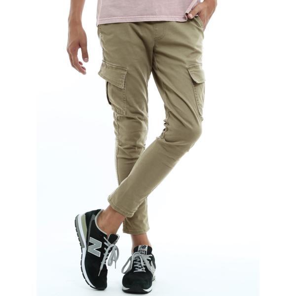 カーゴパンツ メンズ ボトムス ストレート スリム ストレッチ ストーンバイオウォッシュ イージーパンツ クライミングパンツ おしゃれ ファッション|improves|17