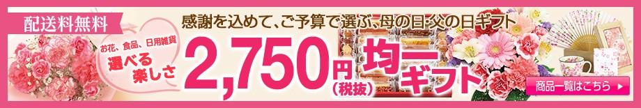2750円(税抜)均一ギフト