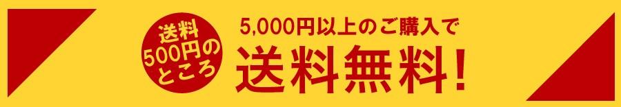 5,000円以上ご購入で送料サービス