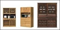 幅121〜151の食器棚 レンジボード