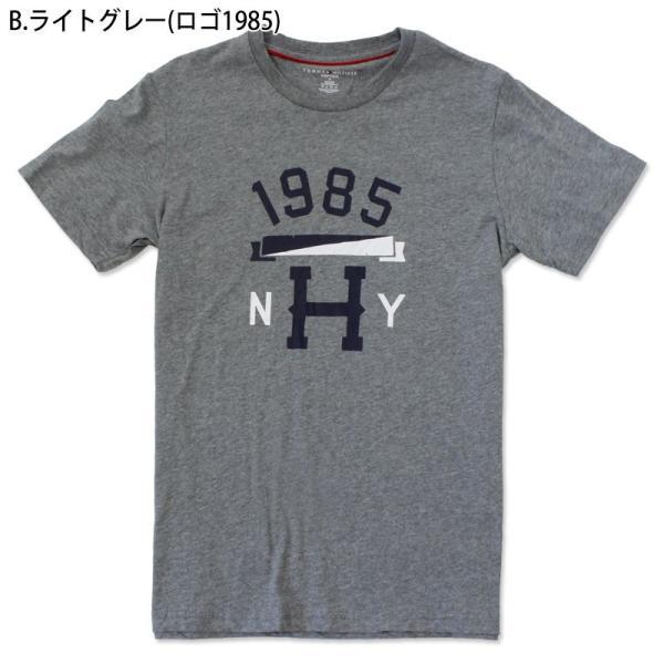 ゆうパケット送料無料 トミーヒルフィガー アウトレット Tシャツ メンズ 半袖Tシャツ ブルー グレー ロゴ 1985 ブランド TOMMYHILFIGER tsn|indexstore|12