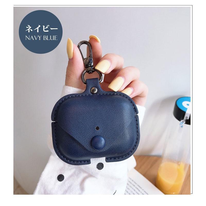 Air Pods Pro ケース puレザー AirPods Pro Case カバー カラビナ付き エアーポッズプロケース 防塵 耐衝撃 air pods proケース 高品質 イヤホンケース|initial-k|20