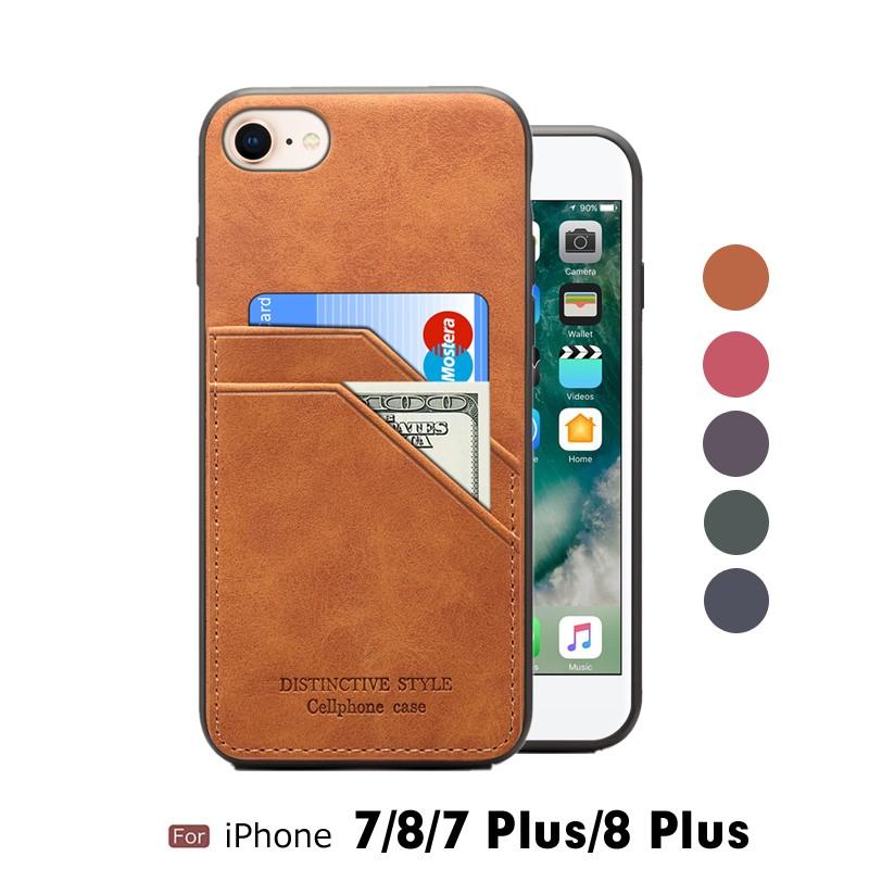 iPhone8ケース 耐衝撃iPhone8 Plus ケース 背面 カード収納 レザー ...