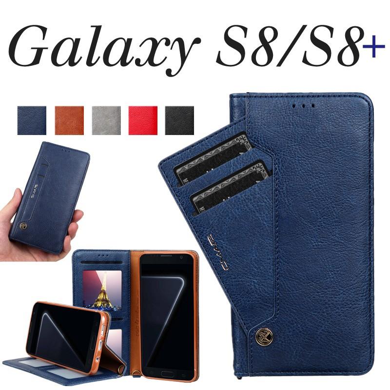 カバーGalaxy S8 ケースGalaxy S8+ ケース 手帳型 カード収納 大容量 ギャラクシーs8 カバー 手帳 スマホカバーGalaxy  S8 手帳型ケース かわいいGalaxy S8カバー