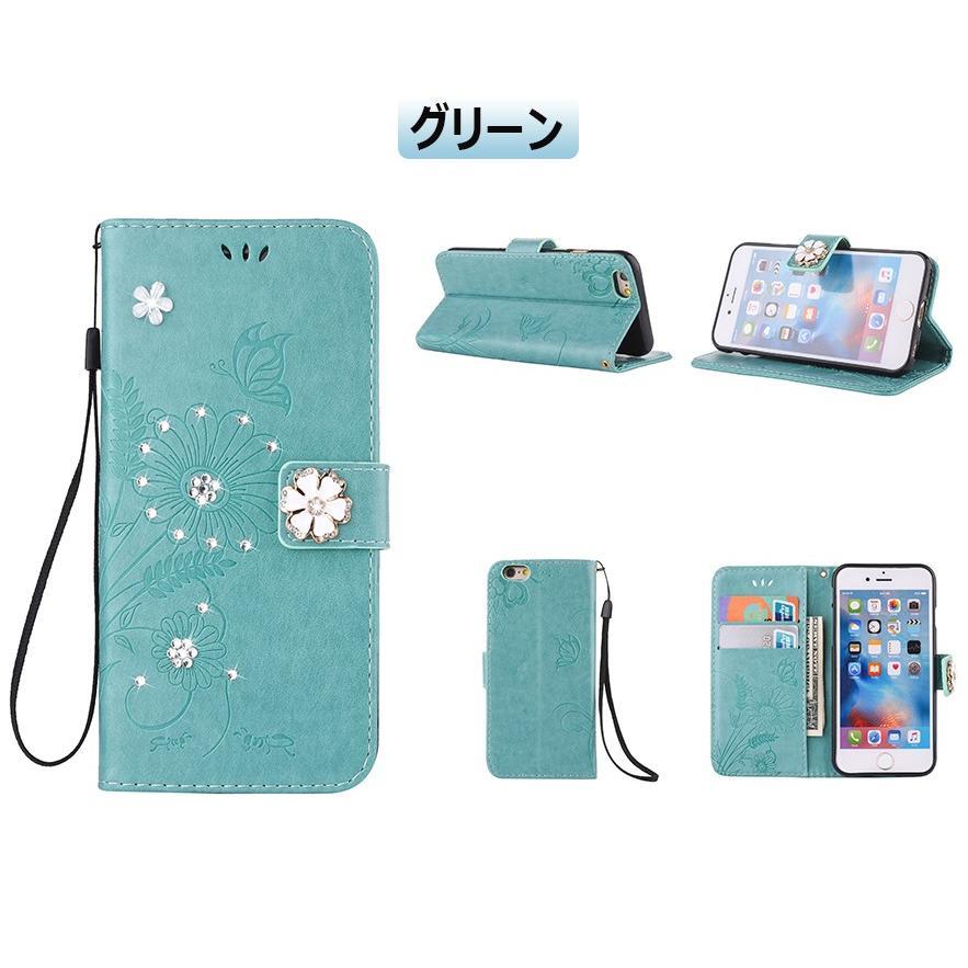 スマホケース 携帯ケース  iPhone6s iPhone7 iPhone 8 Plus ケース 手帳型 花柄 iPhone 11 X XR Xs Max SE2ケース  アイフォン6s Plus キラキラ 可愛い initial-k 18