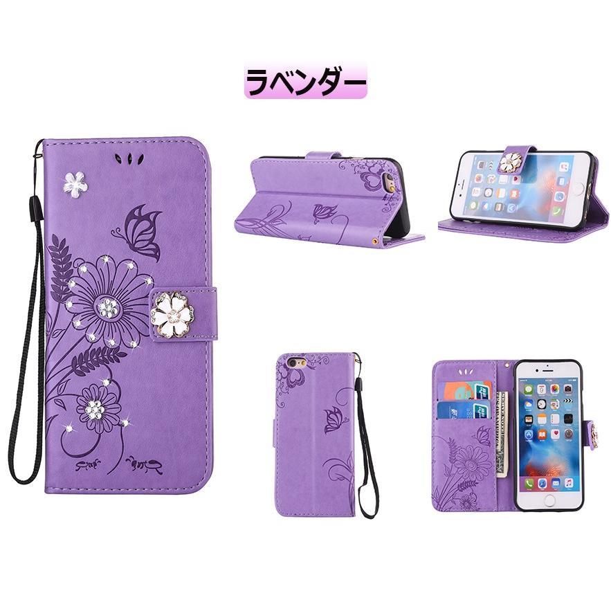 スマホケース 携帯ケース  iPhone6s iPhone7 iPhone 8 Plus ケース 手帳型 花柄 iPhone 11 X XR Xs Max SE2ケース  アイフォン6s Plus キラキラ 可愛い initial-k 19